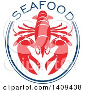 Clipart Of A Lobster Seafood Design Royalty Free Vector Illustration by Seamartini Graphics
