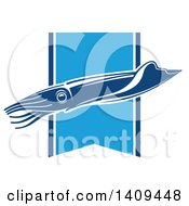 Clipart Of A Squid Seafood Design Royalty Free Vector Illustration by Vector Tradition SM