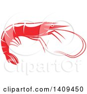 Clipart Of A Shrimp Seafood Design Royalty Free Vector Illustration by Vector Tradition SM