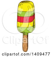 Clipart Of A Sketched Popsicle Royalty Free Vector Illustration by Vector Tradition SM