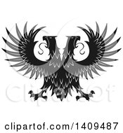 Black And White Double Headed Eagle