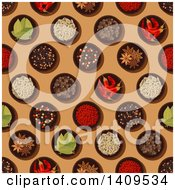 Clipart Of A Seamless Background Pattern Of Spices Royalty Free Vector Illustration by Vector Tradition SM