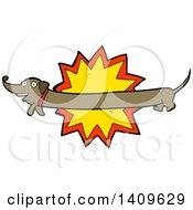 Poster, Art Print Of Cartoon Dachshund Dog