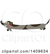 Cartoon Dachshund Dog