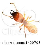 Clipart Of A 3d Termite On A White Background Royalty Free Illustration