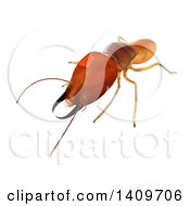 Clipart Of A 3d Termite On A White Background Royalty Free Illustration by Leo Blanchette