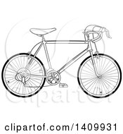Black And White 10 Speed Bicycle