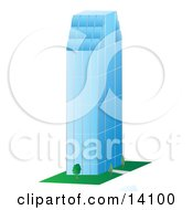 Tall Glass Skyscraper Clipart Illustration