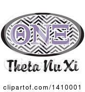 Poster, Art Print Of College Theta Nu Xi Sorority Organization Design