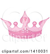 Clipart Of A Pink Princess Tiara Crown Royalty Free Vector Illustration