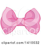 Clipart Of A Pink Princess Bow Royalty Free Vector Illustration