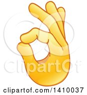 Clipart Of A Hand Emoji Gesturing Ok Royalty Free Vector Illustration
