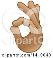 Clipart Of A Hand Emoji Gesturing Ok Royalty Free Vector Illustration