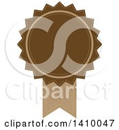 Clipart Of A Brown Ribbon Award Design Element Royalty Free Vector Illustration by dero
