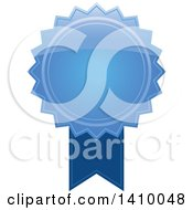 Clipart Of A Blue Ribbon Award Design Element Royalty Free Vector Illustration by dero