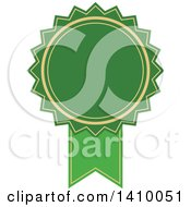 Clipart Of A Green Ribbon Award Design Element Royalty Free Vector Illustration by dero