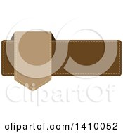 Clipart Of A Brown Banner Design Element Royalty Free Vector Illustration by dero