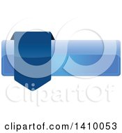 Clipart Of A Blue Banner Design Element Royalty Free Vector Illustration by dero