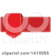 Clipart Of A Red Banner Design Element Royalty Free Vector Illustration by dero