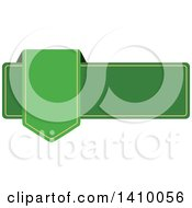 Clipart Of A Green Banner Design Element Royalty Free Vector Illustration by dero