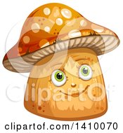 Clipart Of A Happy Female Mushroom Royalty Free Vector Illustration