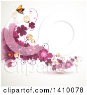 Purple Clover Floral Background