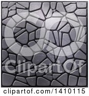 Clipart Of A Background Of Metallic Pebbles Royalty Free Illustration