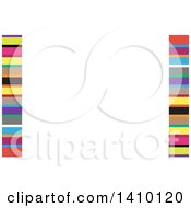 Clipart Of A Colorful Stripe Background Or Business Card Design Royalty Free Vector Illustration