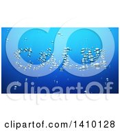 Clipart Of A 3d Word Calm Made Of Bubbles Underwater Royalty Free Illustration