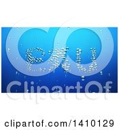 Clipart Of A 3d Word Eau Made Of Bubbles Underwater Royalty Free Illustration by Julos