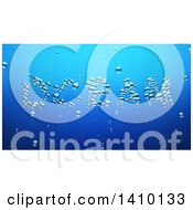 Clipart Of A 3d Word Ocean Made Of Bubbles Underwater Royalty Free Illustration by Julos