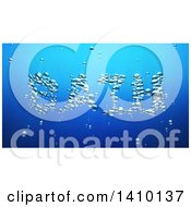 Clipart Of A 3d Word Bath Made Of Bubbles Underwater Royalty Free Illustration by Julos