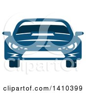 Clipart Of A Blue Sports Or Race Car Royalty Free Vector Illustration