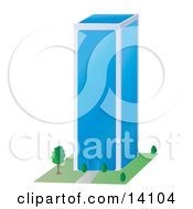 Glass Skyscraper Clipart Illustration
