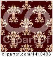 Clipart Of A Seamless Background Pattern Of Fleur De Lis Royalty Free Vector Illustration by Seamartini Graphics