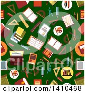 Poster, Art Print Of Flat Design Background Of Educational Icons