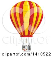 Clipart Of A Hot Air Balloon With Visible Parts Royalty Free Vector Illustration