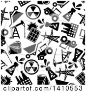 Seamless Background Pattern Of Black And White Energy Icons