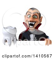 Clipart Of A 3d Dracula Vampire On A White Background Royalty Free Illustration