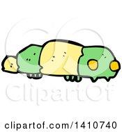 Clipart Of A Cartoon Caterpillar Royalty Free Vector Illustration