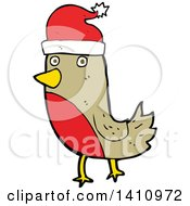 Cartoon Christmas Robin Bird