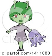 Cartoon Alien Girl