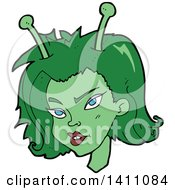 Cartoon Female Alien Face