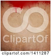 Clipart Of A Background Of Blood Splatters On Paper Royalty Free Vector Illustration