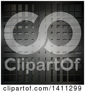Clipart Of A Metal Background Royalty Free Illustration