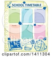 School Timetable With Sketched Supplies