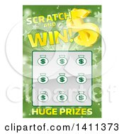 Lottery Instant Scratch And Win Design