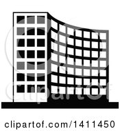 Black And White Urban Building Icon