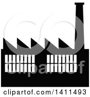 Black And White Factory Icon
