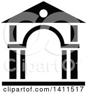 Black And White Building Icon
